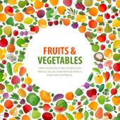 food vector logo design template fruits and vegetables icons