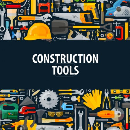 tools vector logo design template. construction or building icons
