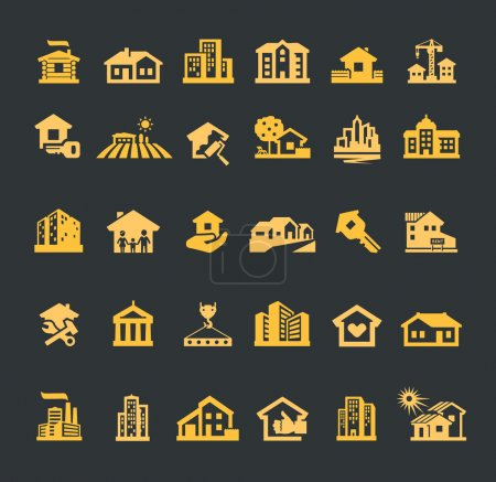 estate vector logo design template. house or construction, building icons