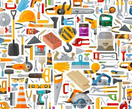 Illustration pour Outils de construction sur fond blanc. illustration vectorielle - image libre de droit