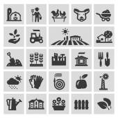 farm vector logo design template gardening horticulture or harvest crop icons