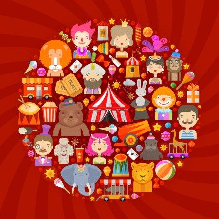 circus vector logo design template. fun fair or entertainment icons