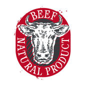cow vector logo design template beef or meat icon