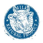 milk vector logo design template cow or farm icon