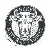 cow vector logo design template beef or cattle breeding icon