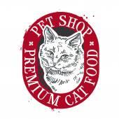 pet shop vector logo design template food or cat icon
