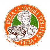 pizza vector logo design template cooking or restaurant icon