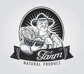 Fresh vegetables food vector logo Gardening or farm icon