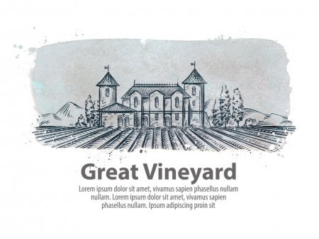 vineyard, vinery vector logo design template. harvest, crop, yield or farming icon