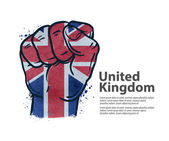 fist the flag of england britain uk vector illustration