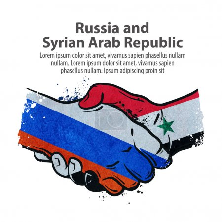 handshake. Russia and Syria. vector illustration
