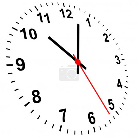 Illustration pour Horloge 3d - image libre de droit