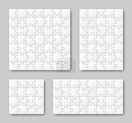 Puzzle Set - White - 4 головоломки