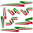 Collection - italian country flag banners...