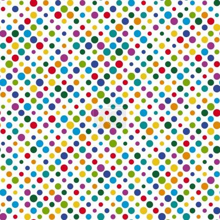 Illustration pour Vecteur de fond de motif de points colorés sans couture - image libre de droit