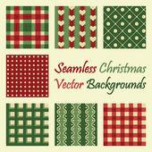 Seamless christmas vector backgrounds