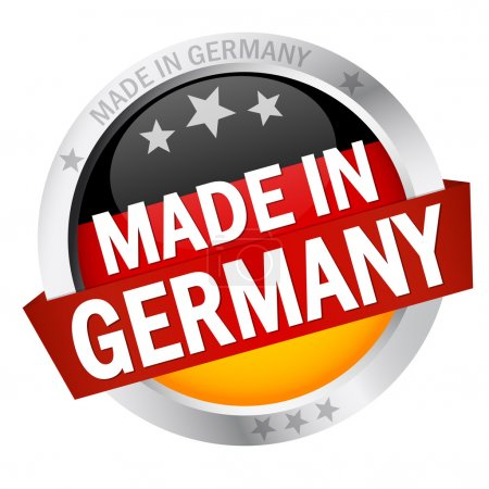 Button with Banner MADE IN GERMANY