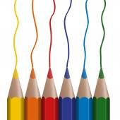 6 pastelkami v řadě