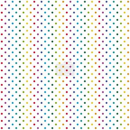 Illustration pour Fond de motif abstrait sans couture avec des points colorés - image libre de droit