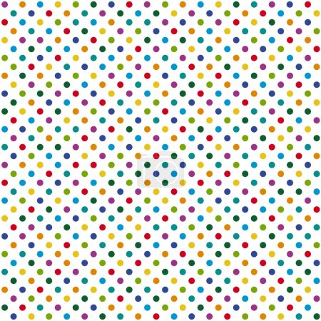 Illustration for Abstract seamless background with dots in different colors - Royalty Free Image