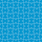 Seamless puzzle background blue