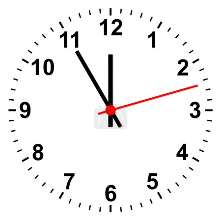 horloge simple isolé