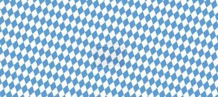 Blue and white checkered Oktoberfest background ba...
