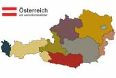 colored silhouette of country Austria