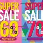 Modern Banner Super Sale Up to 80 Percent 6250x2500 Pixel Vector Illustration