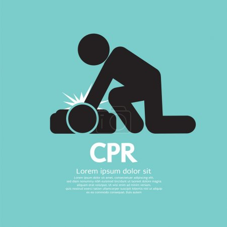 CPR Or Cardiopulmonary Resuscitation Vector Illustration.