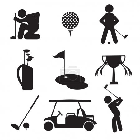 Golf Icon Set Vector Illustration