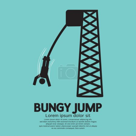 Bungy Jump Vector Illustration
