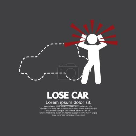 Lose Car Concept Graphic Symbol Vector Illustration