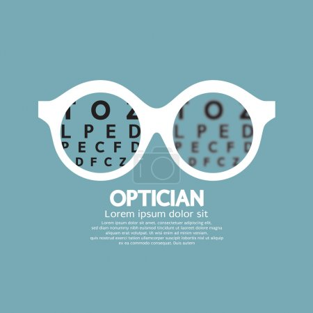 Optician, Vision Of Eyesight Vector Illustration