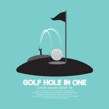 Golf Hole in One Sport Symbol Vector Illustration