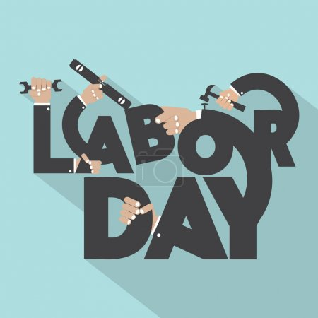 Concept Of Labor Day Typography Design Vector Illustration