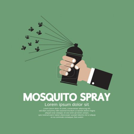 Illustration pour Mosquito Spray en main Illustration vectorielle - image libre de droit