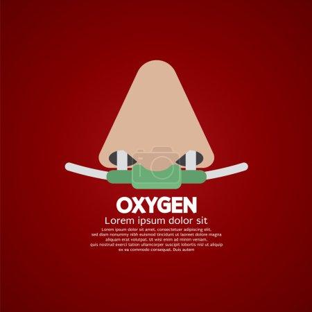 Respiratory Oxygen Nasal Catheter Vector Illustration