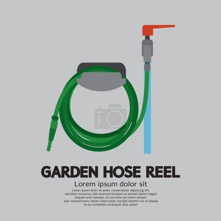 Garden Hose Reel Vector Illustration