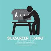 Worker Do Silkscreening Vector Illustration