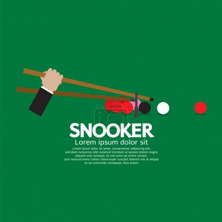 Snooker Competition Vector Illustration