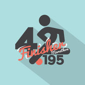 Marathon Finisher Typography Design Vector Illustration