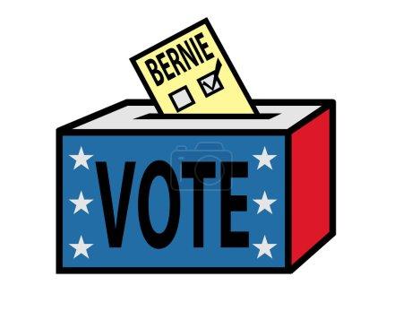 Vote campaign vote bernie, vector illustration...