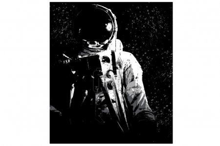 Illustration for Astronaut, space on black background - Royalty Free Image