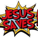 Постер, плакат: Jesus saves