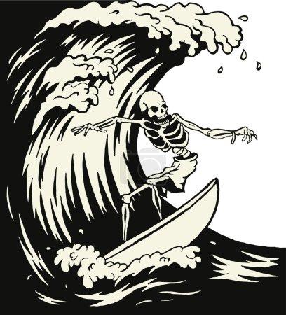 Surfer skeleton