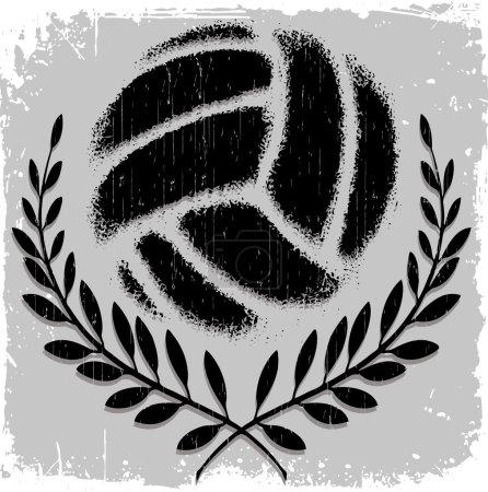 Volleyball, black on grey backgraund