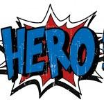 Comic book explosion bubble hero...