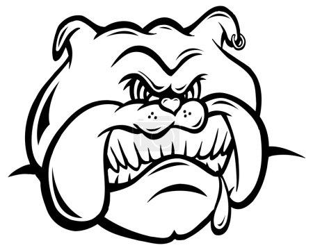 Illustration for Bull dog, black and white - Royalty Free Image