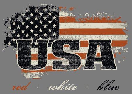 USA flag and map design